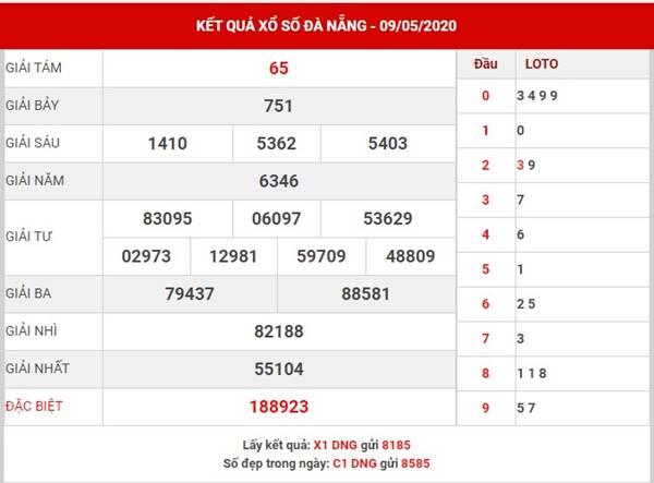 Soi cầu kết quả XS Đà Nẵng thứ 4 ngày 13-5-2020