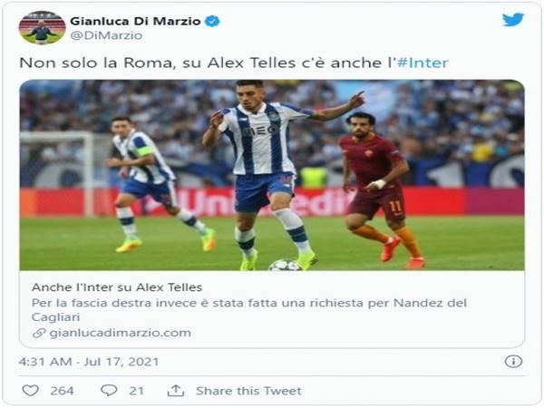 Bóng đá QT 17/7: Inter và Roma chỉ muốn mượn Alex Telles
